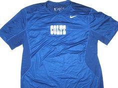 f51b770a Alex Tanney Training Worn Official Indianapolis Colts #3 Nike Dri-Fit XL  Shirt
