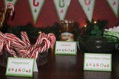 Hot cocoa bar plus FREE printables!