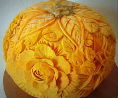 Amazing Pumpkin Carvings Featuring Flowers!...M