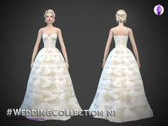Sims 4 CC's - The Best: Wedding Dress by LuxySims3
