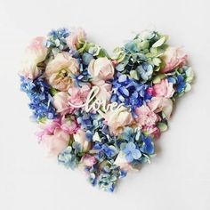 Our hearts are a flutter for this and Riverside inspired floral wreath. by by pantone Rose Quartz Serenity, Valentines Day Desserts, Color Of The Year, Love Birds, Retro, Creative Director, Pantone, Peace And Love, Flower Art