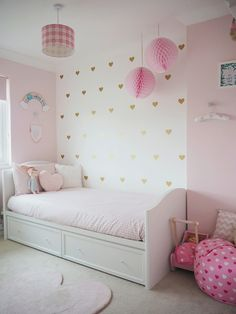 Amelie's bedroom has to be my favourite room in our home. When we chose the theme for her room we went for girly, magical, a… - Amelie's Soft Pink and Gold Toddler Bedroom Bedroom For Girls Kids, Big Girl Bedrooms, Pink Bedrooms, Little Girl Rooms, Girls Pink Bedroom Ideas, Toddler Girl Rooms, Toddler Bedroom Ideas, Girls Bedroom Accessories, Little Girls Room Decorating Ideas Toddler