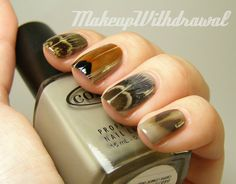 Feather nails!  Awesome!