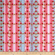 Designed by Nel Whatmore for Westminster, this cotton print fabric is perfect for quilting, apparel and home decor accents. Colors include nutmeg, shades of pink, and sky blue.