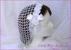 1800 Bürgerkrieg viktorianischen Bridal Wedding weiß mit