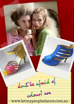 colourful shoes, latin dance shoes