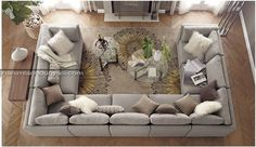 u shaped couch   ... Tasarım Köşe Koltuk Modelleri – U Shaped Corner Sofa (6