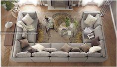 u shaped couch | ... Tasarım Köşe Koltuk Modelleri – U Shaped Corner Sofa (6