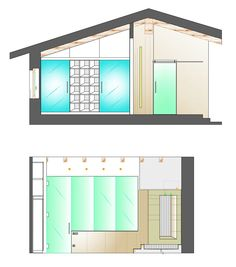 Ristrutturazione appartamento in dimora storica - Prospetti laterali bagno camera matrimoniale - Maria Teresa Azzola Designer - Nembro (BG) 2012-2013