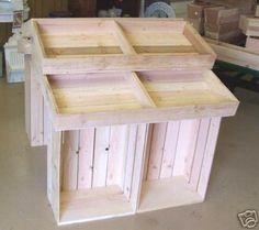 "Wood 39"" Country Barn Style Store Crate Floor Display | eBay"