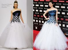 Jing Tian In Georges Chakra Couture – 2012 Bazaar Charity Night