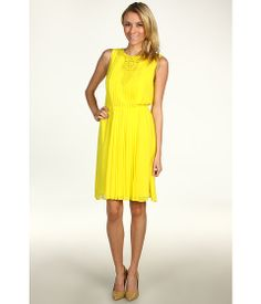 Jessica Simpson Embellished Pleated Blouson Dress $69.99 Is it too bright?