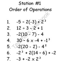 Beasts of PEMDAS! Order of Operations Math 5.OA.1 6.EE.1 Practice ...
