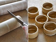 I took one look at this picture, and knew immediately what this was supposed to be. So creative and frugal way to make napkin rings!