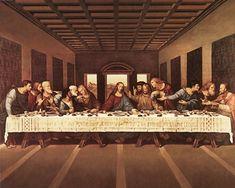 """Last Supper"" by Leonardo Da Vinci art print Note: This is truly a masterpiece! Last Supper Art, Da Vinci Last Supper, The Last Supper Painting, Famous Art Paintings, Classic Paintings, High Renaissance, Renaissance Paintings, Pierre Auguste Renoir, Christian Art"