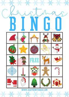 Christmas Bingo Printable, Christmas Bingo Cards, Christmas Games For Kids, Christmas Activities, Christmas Fun, Free Printable Bingo Cards, Bingo Cards To Print, Bingo Games For Kids, Bingo Template