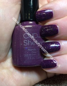 Most popular glitter so far in 2015.... CND Shellac Rock Royalty with Nordic Lights.   Also available in Vinylix   www.holisticandbeautytreatments.co.uk