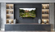 Bespoke entertainment rooms and TV units by The Wood Works are designed for your. - Bespoke entertainment rooms and TV units by The Wood Works are designed for your ultimate enjoyment - Salas Home Theater, Entertainment Wall Units, Muebles Living, Tv Decor, Living Room Tv, Tv Cabinets, Wooden Cabinets, Home Interior, Family Room