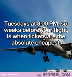I knew it was Tuesdays but not the rest.  Good to know considering we fly all the time!