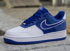 Nike Air Force 1 Low   Hyper Blue   White   Elephant