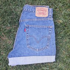 "Levis high waisted shorts size 32""w Levis high waisted shorts size 32""w Levi's Shorts Jean Shorts"