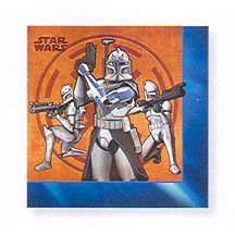 Clone Wars Storm Trooper Napkins http://partyzone.com.au/boys-party-themes-star-wars-party-supplies-biggest-range-c-228_335.html