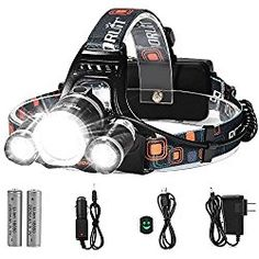 White//Red LEDs and Sensor Switch LED Headlamp Flashlight 280 Lumen Head Lamps Torch USB Rechargeable Waterproof Headlamps with Focus for Camping Hiking,Outdoor /& Indoor,6 Lightning Modes