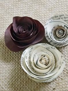 How to Make Rolled Paper Roses : Decorating : Home & Garden Television