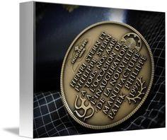 "Patek Philippe Geneve Commemorative Medal Coin $62 // Style: White Edge Canvas Print; Size: Petite 8"" x 10"" // Visit http://www.imagekind.com/Patek-Philippe-Geneve-PPG_art?IMID=02d2d878-c1ec-4135-b5f1-3c17e7a5ee8b for product details."