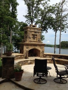 Lake Norman Outdoor living traditional-patio