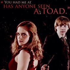 Dork humor! Ron and Hermione <3