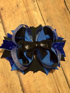 Police hairbow, TBB, police daughter, blue hairbow, blue line hairbow, support…