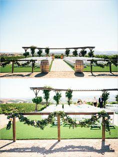 vineyard wedding ceremony @weddingchicks