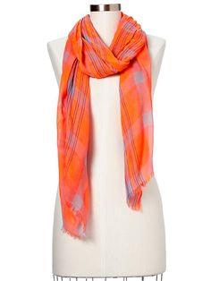 Gap | Bright plaid scarf