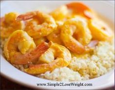 TSFL: Curry shrimp and cauliflower rice