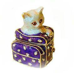 kitten trinket box