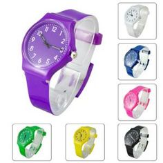 Damen Mode Gummi Armbanduhr Uhr