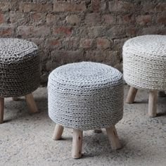 Christopher Knight Home Montana Knitted Fabric Round Ottoman Stool