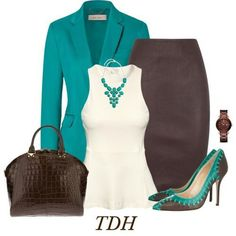 Turquoise & Brown