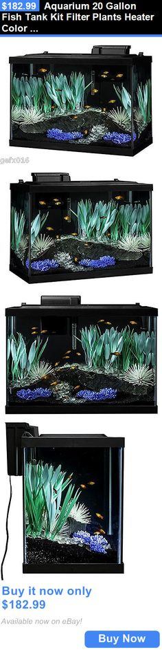 Animals Fish And Aquariums: Aquarium 20 Gallon Fish Tank Kit Filter Plants Heater Color Change Led Light New BUY IT NOW ONLY: $182.99