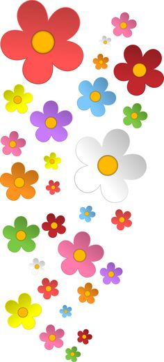 Colorful Flowers on White Wallpaper Colorful Wallpaper, Flower Wallpaper, Wallpaper Backgrounds, Iphone Wallpaper, White Wallpaper, Flower Power, Graffiti Kunst, Diy And Crafts, Paper Crafts