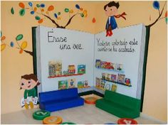 23 collaborative projects for the new school year 00006 Preschool Classroom, Classroom Decor, Kindergarten, Class Decoration, School Decorations, Book Corners, Library Design, Library Displays, Classroom Organization