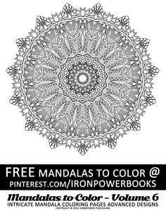 High Resolution Mandala Coloring Image For Stress Relief Free