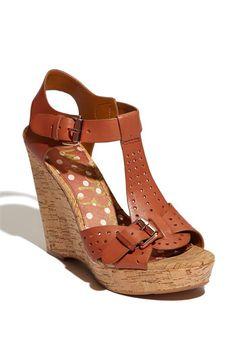 Sam Edelman 'Karli' Wedge in Terracotta Leather