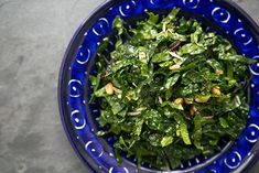 Raw Kale Salad with Balsamic, Pine Nuts, and Parmesan