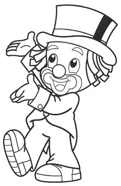 Clown Hat Coloring Pages – Play coloring with us Bear Coloring Pages, Free Printable Coloring Pages, Adult Coloring Pages, Coloring Pages For Kids, Coloring Sheets, Clown Crafts, Clown Party, Vintage Coloring Books, Cute Clown
