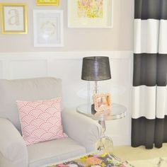 A designer looking DIY baby girl's nursery