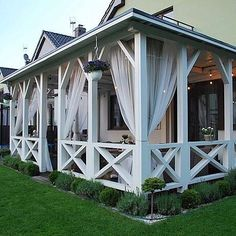 Cozy Backyard, Backyard Retreat, Backyard Landscaping, Wooden Garden Gazebo, Caribbean Homes, Outdoor Living, Outdoor Decor, Decks And Porches, Pergola