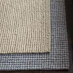 Rows of felted wool loops create the texture of West Elm's Pebble Rug