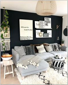 Grey Living Room Ideas On A Budget Modern Farmhouse Living Room Decor, Living Room Decor Cozy, Small Living Rooms, Home Living, Apartment Living, Decor Room, Apartment Design, Country Living, Cozy Room